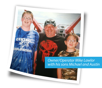 Photo of Lampshades, Inc. owner Mike Lawlor and his sons
